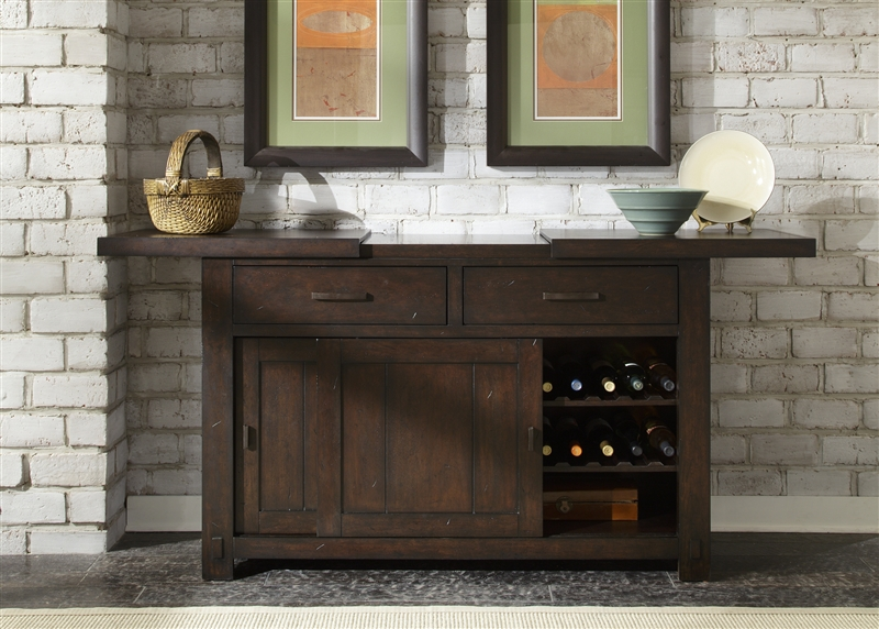 Genial Tahoe Sliding Top Server In Mahogany Stain Finish By Liberty Furniture    555 SR5436