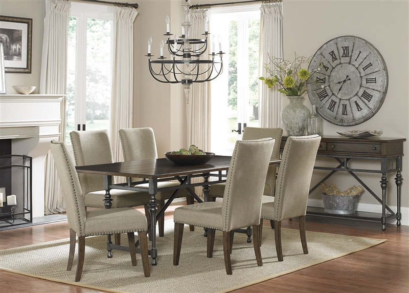 Ivy Park Rectangular Leg Table 5 Piece Dining Set In