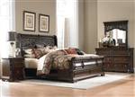 Arbor Place Sleigh Bed 6 Piece Bedroom Set in Brownstone Finish by Liberty Furniture - 575-BR