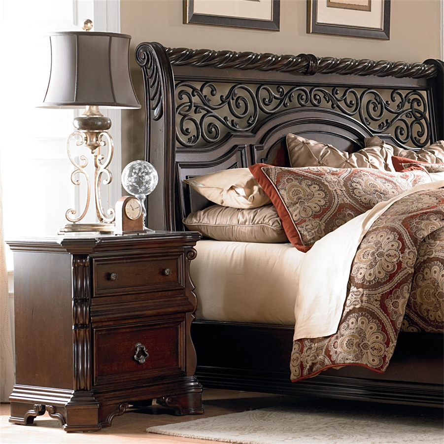 Arbor Place Sleigh Bed 6 Piece Bedroom Set In Brownstone Finish By Liberty Furniture 575 Br