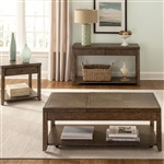Mitchell Lift Top Cocktail Table in Nutmeg Finish by Liberty Furniture - 58-OT