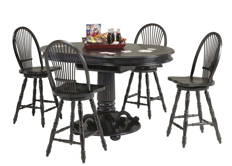 Café Espresso Pub Table 3 Piece Dining Set in Rubbed Black Finish by Liberty Furniture - 580-PUB  sc 1 st  Home Cinema Center & Café Espresso Pub Table 3 Piece Dining Set in Rubbed Black Finish by ...