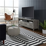 Mercury 62 Inch TV Console in Driftwood Gray Finish by Liberty Furniture - 581-TV62