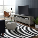 Mercury 76 Inch TV Console in Driftwood Gray Finish by Liberty Furniture - 581-TV76