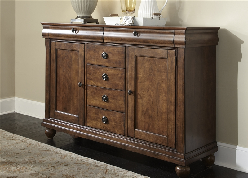 Rustic Tradition Server In Rustic Cherry Finish By Liberty