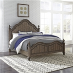Parisian Marketplace Poster Bed in Heathered Brownstone Finish by Liberty Furniture - 598-BR-QPS
