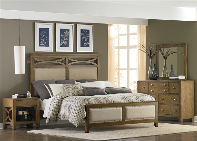 Town & Country 6 Piece Bedroom Set in Sandstone Finish by Liberty ...