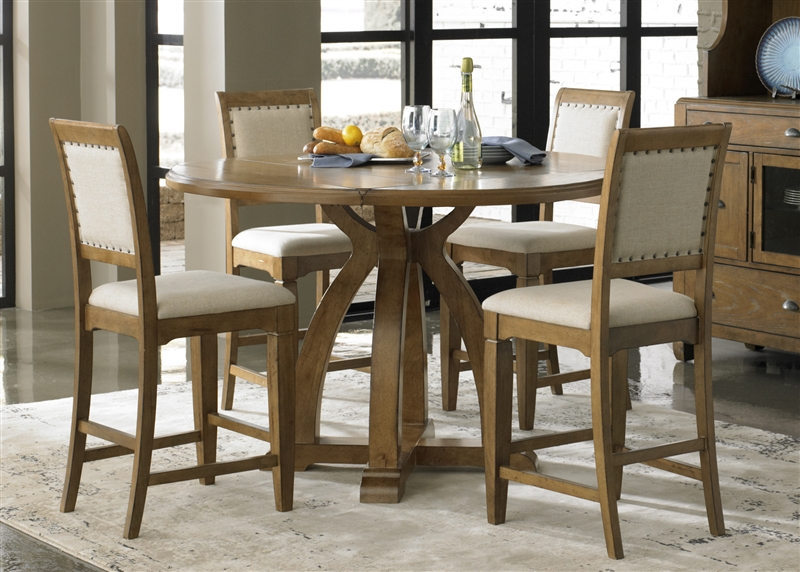 Town Country Counter Height Gathering Table 5 Piece Dining Set In Vendor 5349