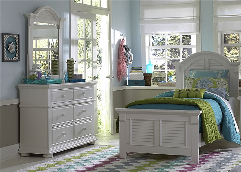 Superior Summer House 4 Piece Youth Bedroom Set In Oyster White Finish By Liberty  Furniture   607 BR TPBDM