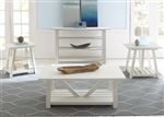Summer House Cocktail Table in Oyster White Finish by Liberty Furniture - 607-OT