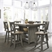 Lindsey Farm Gathering Table Set in Gray and Sandstone Finish by Liberty Furniture - 62-CD-5GTS