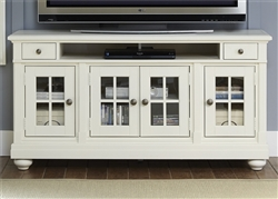 Harbor View 62 Inch Entertainment TV Stand in White Linen Finish by Liberty Furniture - 631-TV62