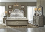 Grand Estates Sleigh Bed 6 Piece Bedroom Set in Gray Taupe Finish by Liberty Furniture - 634-BR