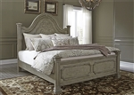 Grand Estates Panel Bed in Gray Taupe Finish by Liberty Furniture - 634-BR-QPB