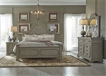 Grand Estates Panel Bed 6 Piece Bedroom Set in Gray Taupe Finish by Liberty Furniture - 634-BR-QPBDMN