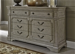 Grand Estates Sideboard in Gray Taupe Finish by Liberty Furniture - 634-BR32