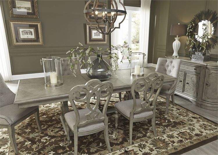 Charmant Grand Estates Trestle Table 7 Piece Dining Set In Gray Taupe Finish By  Liberty Furniture ...