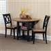 Al Fresco Drop Leaf Leg Table 3 Piece Dining Set in Driftwood & Black Finish by Liberty Furniture - 641-CD-O3DLS