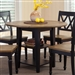 Al Fresco Drop Leaf Leg Table 5 Piece Dining Set in Driftwood & Black Finish by Liberty Furniture - 641-CD-O5