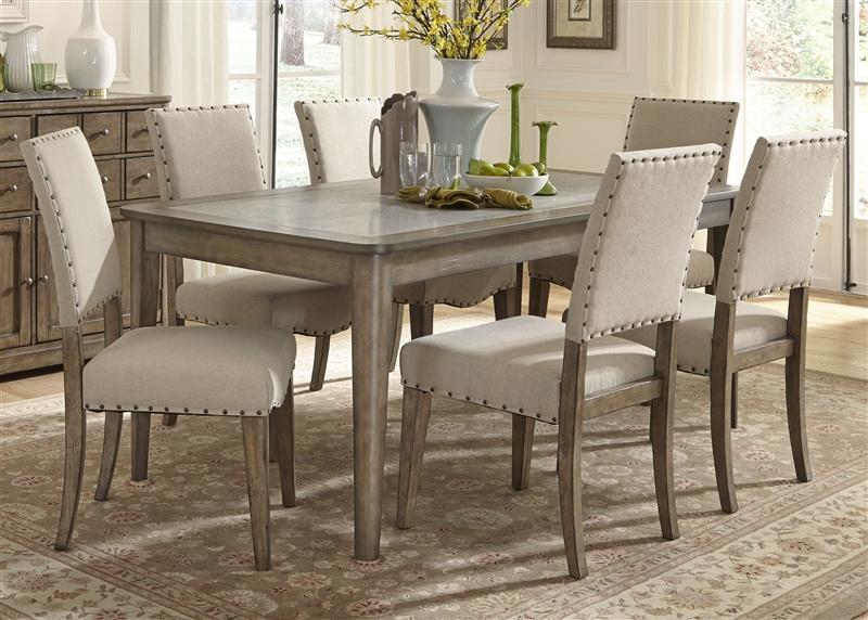 Weatherford Rectangular Leg Table 5 Piece Dining Set In