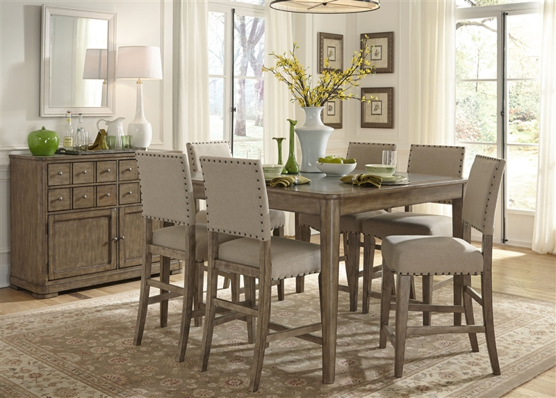 weatherford gathering table 5 piece counter height dining set in