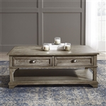 Southern Living Drawer Cocktail Table in Weathered Taupe Finish by Liberty Furniture - 646-OT1010
