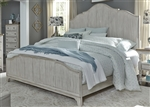 Farmhouse Reimagined Panel Bed in Antique White Finish with Chestnut Tops by Liberty Furniture - 652-BR-QPB
