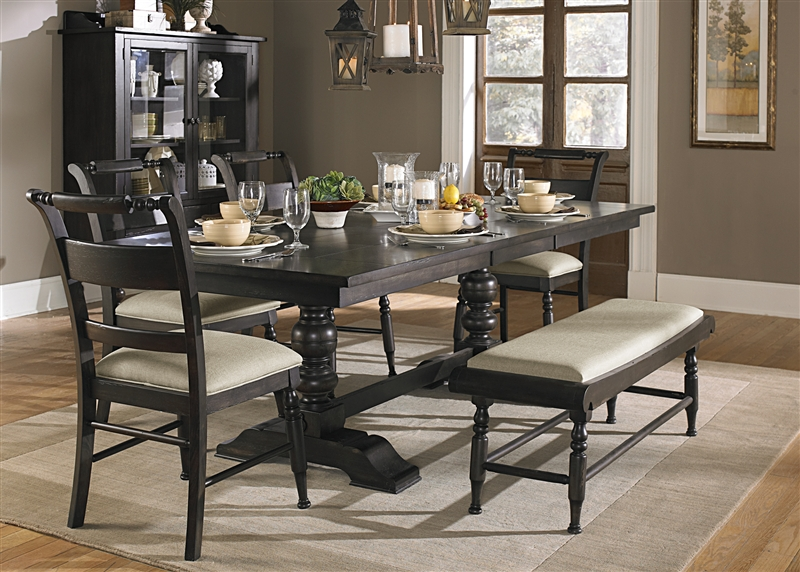 Whitney 6 Piece Dining Set In Black Cherry Finish By Liberty Furniture    LIB 661 T4294 6