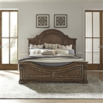 Haven Hall Panel Bed in Aged Chestnut Finish by Liberty Furniture - 685-BR-QPB