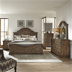 Haven Hall Panel Bed 6 Piece Bedroom Set in Aged Chestnut Finish by Liberty Furniture - 685-BR-QPBDMN