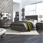 Tanners Creek Panel Bed 6 Piece Bedroom Set in Greystone Finish by Liberty Furniture - 686-BR-QPBDMN