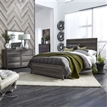 Tanners Creek Panel Bed 4 Piece Youth Bedroom Set in Greystone Finish by Liberty Furniture - 686-BR-TPB
