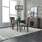Tanners Creek Drop Leaf Table Upholstered Chair 3 Piece Dining Set in Greystone Finish by Liberty Furniture - LIB-686-CD-O3DLS