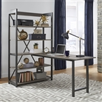 Tanners Creek Desk and Bookcase Set in Greystone Finish by Liberty Furniture - 686-HO-DSK