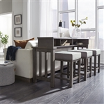 Tanners Creek 4 Piece Console Bar Table Set in Greystone Finish by Liberty Furniture - 686-OT-4PCS
