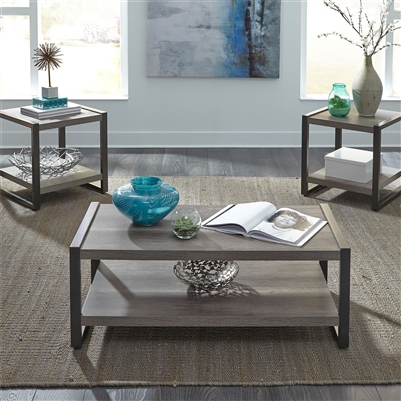 Tanners Creek 3 Piece Accent Table Set in Greystone Finish by Liberty Furniture - 686-OT3000
