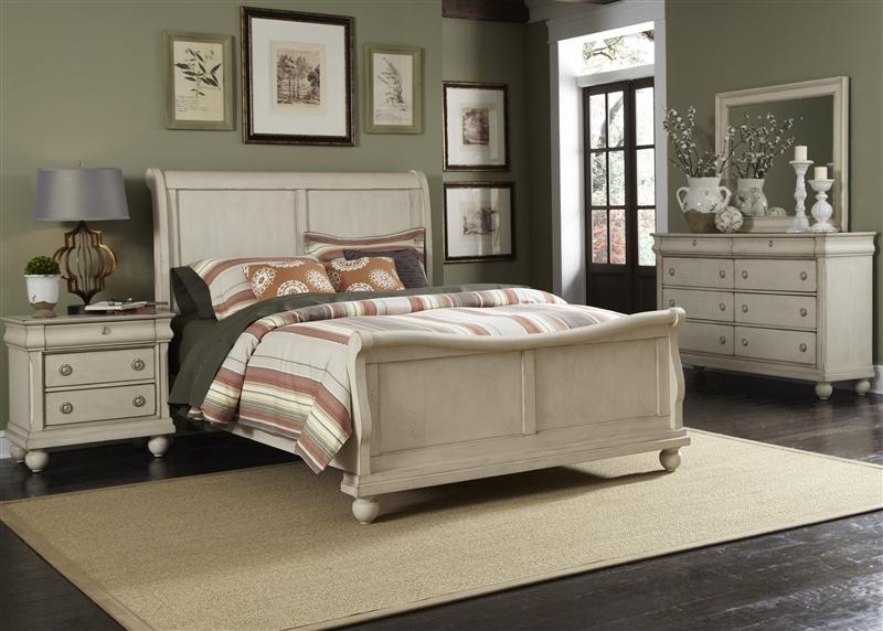 Rustic Traditions II Sleigh Bed 6 Piece Bedroom Set in Rustic