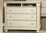 Rustic Traditions II Media Chest in Rustic White Finish by Liberty Furniture - 689-BR45