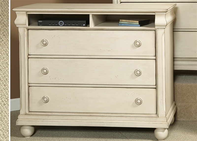Rustic Traditions II Media Chest In Rustic White Finish By Liberty Furniture    689 BR45