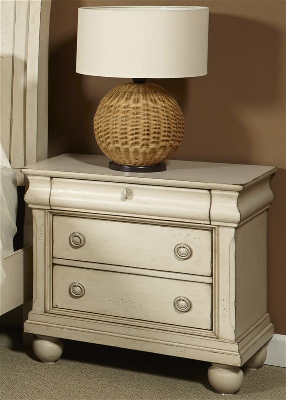 Rustic Traditions II Nightstand In Rustic White Finish By Liberty Furniture    689 BR61
