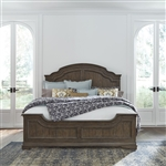 Homestead Panel Bed in Burnished Sage Finish with Gray Cerused Accents by Liberty Furniture - 693-BR-QPB