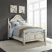 Parisian Marketplace Poster Bed in White Paint Heavy Glazed Finish with Heathered Brownstone Tops by Liberty Furniture - 698-BR-QPS