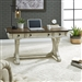 Parisian Marketplace Writing Desk in White Paint Heavy Glazed Finish with Heathered Brownstone Tops by Liberty Furniture - 698-HO107