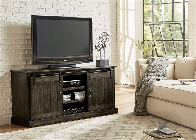 purchase cheap e0f80 131af Appalachian Trails 72-Inch TV Console in Rustic Brown Finish by Liberty  Furniture - 701-TV72