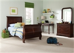 Carriage Court 4 Piece Youth Bedroom Set in Mahogany Finish by Liberty Furniture - 709-YBR