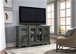 Bay Pointe 64 Inch TV Console in Rustic Turquoise Finish by Liberty Furniture - 713-TV64