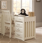 Hampton Bay Writing Desk in White Finish by Liberty Furniture - 715-HO111
