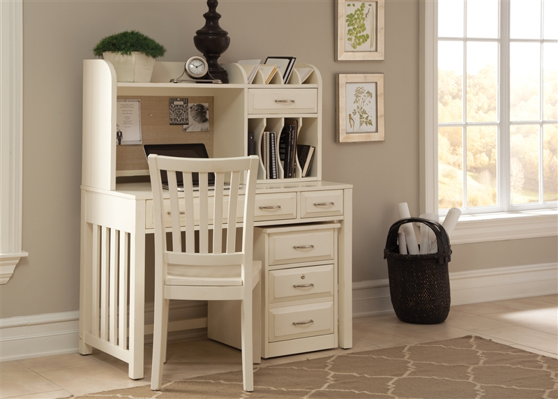 Hampton Bay Open Bookcase In White Finish By Liberty Furniture