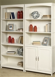 Hampton Bay Door Bookcase in White Finish by Liberty Furniture - 715-HO202