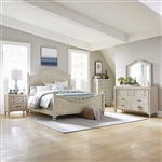 Catawba Hills Poster Bed 6 Piece Bedroom Set in Antique White Finish by Liberty Furniture - 716-BR-QPSDMN